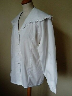 vintage blouse shirt Larp cosplay - theatre costume - lace, Edwardian Victorian