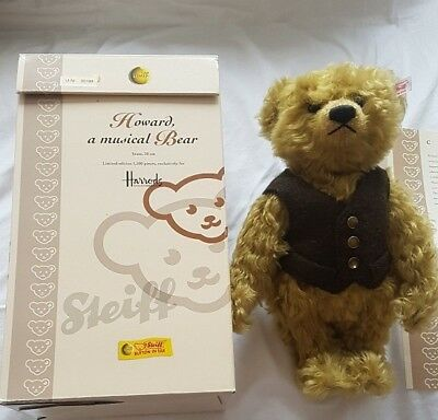 """STEIFF TEDDY    ""HOWARD a Musical Bear""   exklusiv limitiert für Harrods/UK"