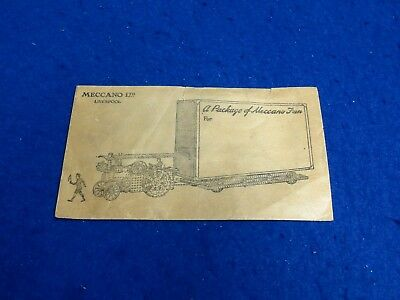 Meccano illustrated envelope