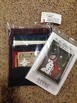 In the Meadow Snowman Wall Hanging QUILT KIT