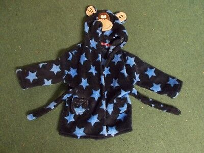 hooded poss twins boys monkey 6-12 months dressing gown post discount avail