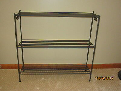 Longaberger Wrought Iron 3 Tier Bookcase Shelf Stand - Excellent Used