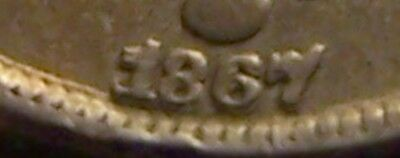 XF 1867/1867 NR Shield Nickel, Repunched Date (RPD), Unlisted?