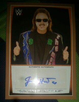 """Jimmy """"The Mouth of The South"""" Hart 2015 Topps WWE Authentic Auto card #07/50"""