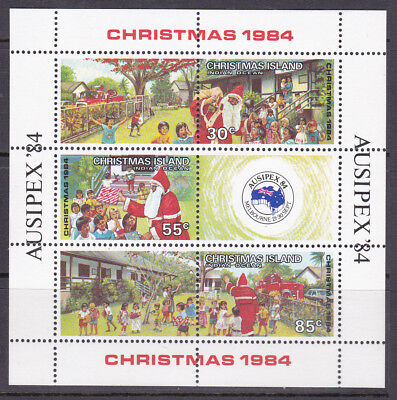 Christmas Island 1984 Christmas Sheetlet UM Cat £2