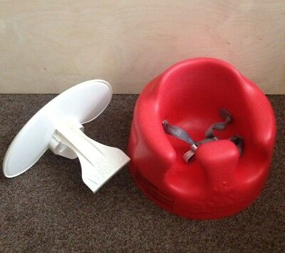 Red Bumbo seat with tray Vgc.