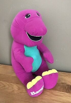 "Talking Barney Interactive Soft Toy 16"" Playskool 1996 **WD19"
