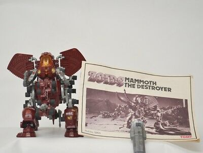 zoids - OER - Mammoth The Destroyer - TOMY figure with instructions.