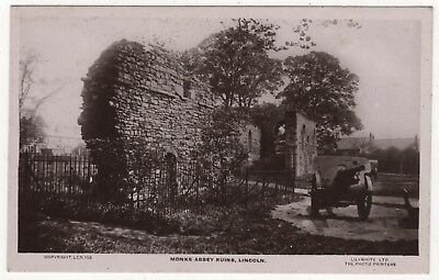 Lilywhite Real Photo Postcard Of Monks Abbey Ruins, Lincoln , Lincolnshire