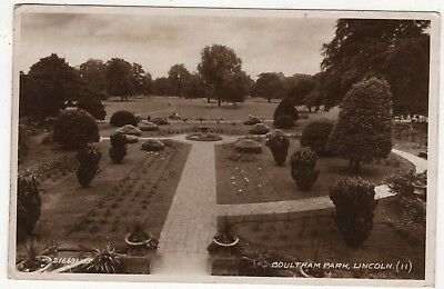VALENTINES REAL PHOTO POSTCARD OF BOULTHAM PARK, LINCOLN , LINCOLNSHIRE c1934