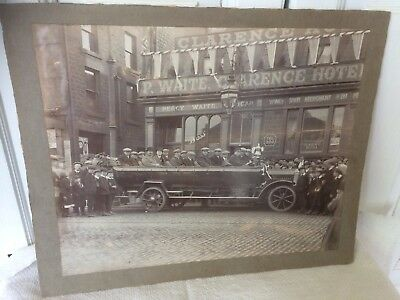 Original Photograph of Barnsley Football Team 1912 Returning from Wembley