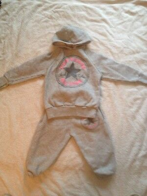 Baby Girls Fashion Hooded Tracksuit Age 12-18 Months