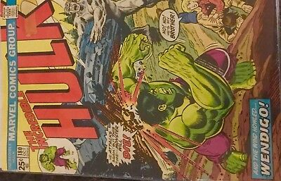 Look * Incredible Hulk 180 First Appearance Of Wolverine (1974)