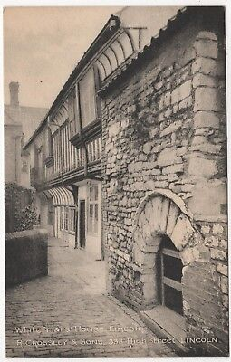 Crossley & Sons  Printed Photo Postcard Of Whitefriar's House , Lincoln , Lincs