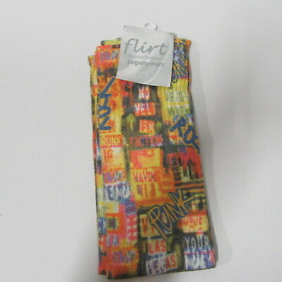 Flirt Punk Rock Leg Warmers  Fancy Dress  Rave Dance  Leg Warmers