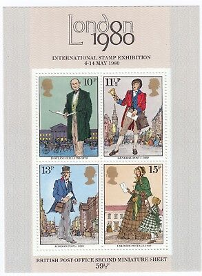 GB 1979 Ms1099 10p-15p Rowland Hill Mini Sheet MNH Unmounted Mint