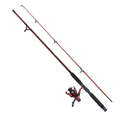 Fladen 2.1m Red or Green Festival Rod and Reel combo