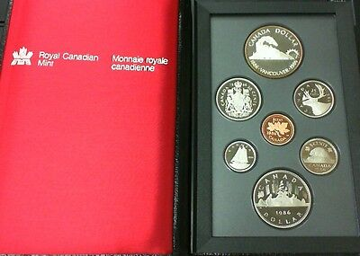 1986 Canada Proof Double Dollar Set Railroad To Vancouver B.c.