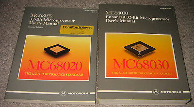Set of 2 Motorola Data Books - 68020 and 68030 Microprocessors