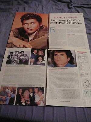 Michael Landon Clippings Découpures 7 Jours Mini Biography February 2, 2002