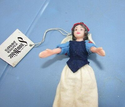 "Vintage Disney Snow White Christmas Ornament Doll 6"" Late 1960s Hard Plastic"