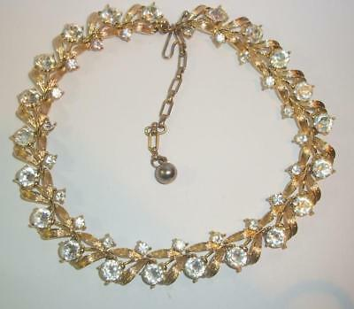 Kramer Vintage Goldtone and Rhinestone Necklace