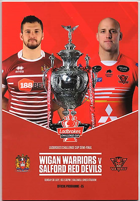 2017-Salford V Wigan-30/7/17-Rugby League Challenge Cup Semi Final Programme