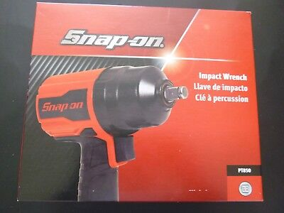 "New Snap-On 1/2"" dr  Air Impact Wrench, PT850, Red, 810 ft. lbs."