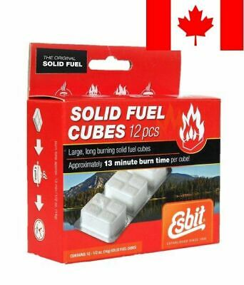 Esbit 12-Piece 14gm 1300-Degree Smokeless Solid Fuel Cubes for Backpacking, C...