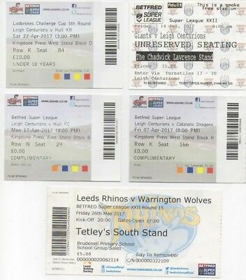 21 x 2017 VARIOUS CLUBS-MATCH TICKET STUB-RUGBY LEAGUE COLLECTION-BUNDLE-BULK