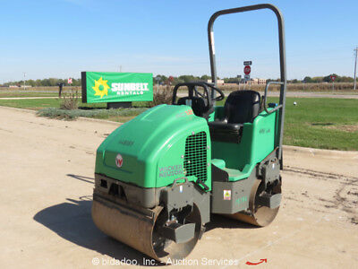 """2012 Wacker RD12A Smooth 36"""" Double Drum Vibratory Ride On Roller Compactor"""