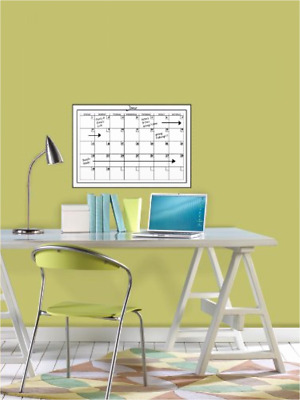 Brewster Wall Pops Wpe94575 Peel & Stick White Board W/ Marker Monthly Calendar