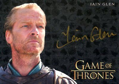 Game Of Thrones Valyrian Steel GOLD AUTOGRAPH card IAIN GLEN