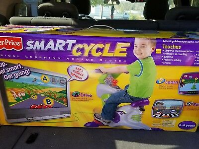 NEW Fisher-Price SMART CYCLE Racer Physical Learning Arcade System Sealed Box