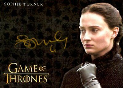 Game Of Thrones Valyrian Steel GOLD AUTOGRAPH card SOPHIE TURNER