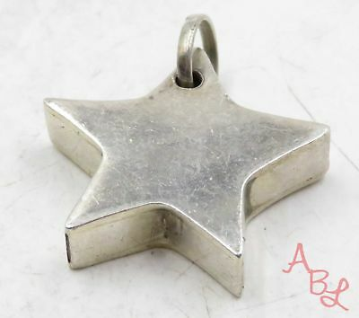 "Sterling Silver Vintage 925 Puffed ""Star"" Charm Pendant (8.7g) - 575253"