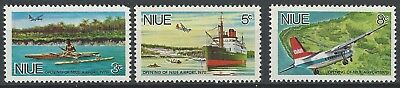 NIUE 1970 - Opening of Niue  Airport - Full set (3v) - SG155-157, MLH