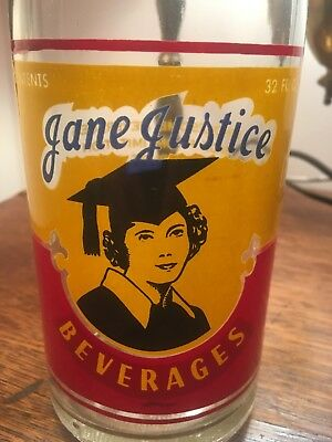 ACL Painted Soda Bottle Jane Justice Terre Haute IN  Lady Pic