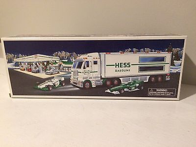2003 Hess Truck And 2 Racecars