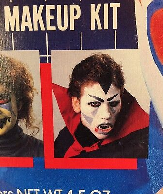 3 1986 Design A Face Halloween Makeup Kits Two Sealed All Unused