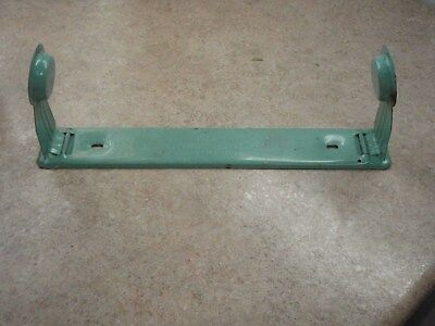 Vintage Metal Paper Towel Holder Turquoise Acme Authentic Wall Mount Fold 1950 S