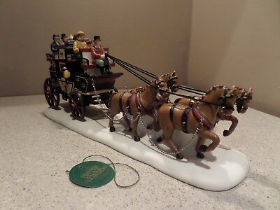 """Dept. 56 - Dickens Village """"Holiday Coach"""" NEW"""