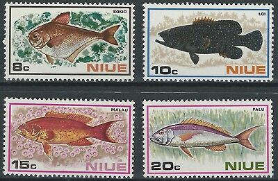 NIUE- 1973 Fishes- Full set (4v) - SG: 175-178 , MNH