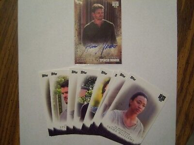 2017 Topps Walking Dead Season 7 In Memoriam Set + Spencer Monroe Auto