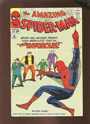 Amazing Spider-Man 10 VG 3.5 * 1 Book Lot * 1st Ox & Enforcers!!!