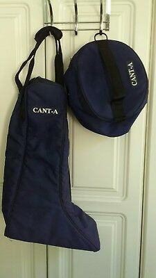 Navy Blue Canta Boot and Helmet luggage set