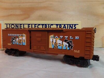 Lionel Train Animated Walt Disney Mickey Mouse & Bad Pete Box Car 6-16686
