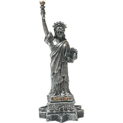 "4"" Statue Of Liberty/Pewter Color -- Polyresin Souvenir Gift Collectible"