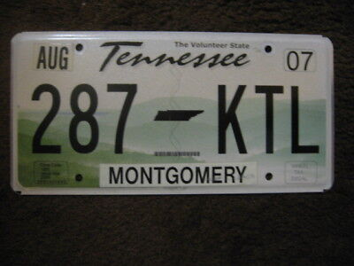 2007 Tennessee License Plate - Montgomery County