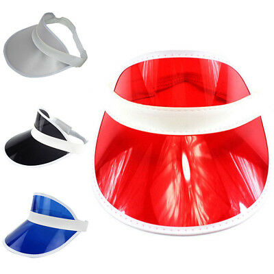 Women Men PVC Shade Cap Empty Top Chapeau Sunscreen Hat Beach Hats Sun  Visor Cap 0dbf368db384